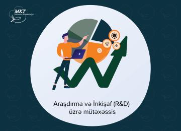 Vakansiya: Araşdırma və İnkişaf (R&D) üzrə mütəxəssis